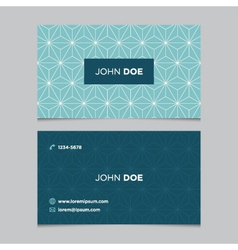 business card pattern blue 12 vector image