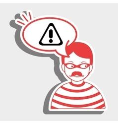 hacker information app icon vector image