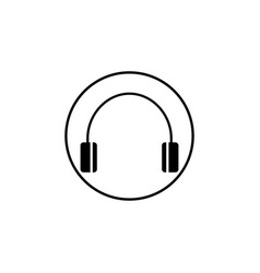 headphone solid icon mobile sign and support vector image