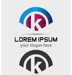 Letter K Logo Design Creative Symbol of letter K vector image vector image
