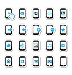 Smartphone mobile or cell phone icons set vector image vector image