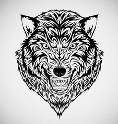 Tribal Wolf Head Tattoo vector image vector image