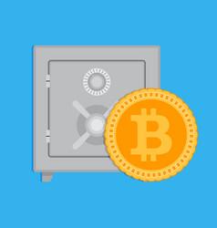 accumulation bitcoin capitalization vector image