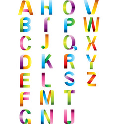alphabet color letters vector image