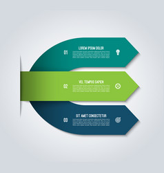 arrow infographic template with 3 options vector image