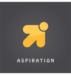 Aspiration logo template vector