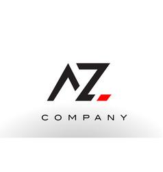 Az logo letter design vector