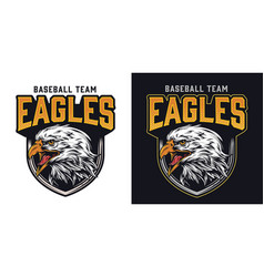 baseball team colorful logo vector image