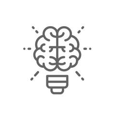 brain and light bulb innovation creative idea vector image