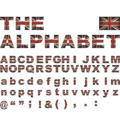 British flag font vector