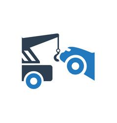 Car towing icon vector