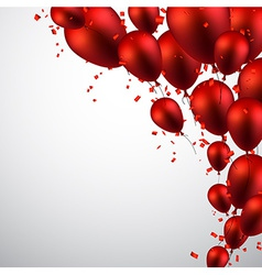 Celebrate background with red balloons vector image