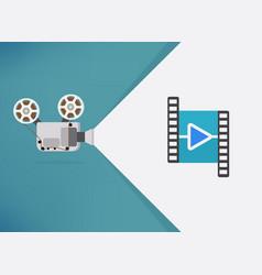 Cinema movie thanks for watching slide movie vector