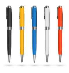 Colored pens vector