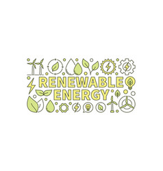 Colorful renewable energy banner vector