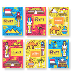 Country egypt travel vacation guide brochure vector
