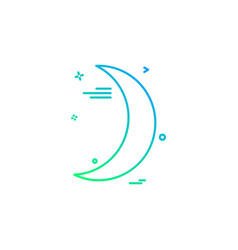 crescent icon design vector image