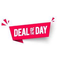 deal day flag label web banner element vector image