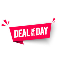 Deal day flag label web banner element vector
