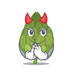 devil artichoke mascot cartoon style vector image