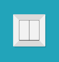 electric light switch icon modern minimal flat vector image