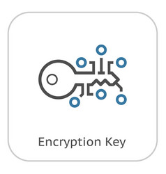 encryption key icon vector image