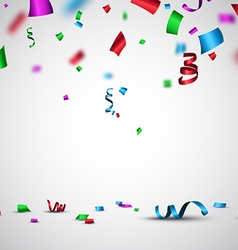 Festive background with confetti vector