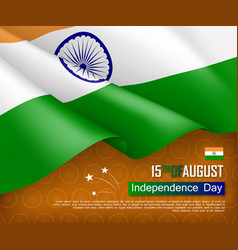 festive of independence day in india vector image
