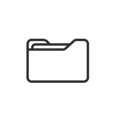 file folder icon in flat style documents archive vector image