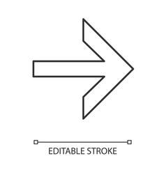 Forward arrow linear icon next right arrow vector