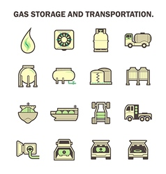 Gas transportation icon vector