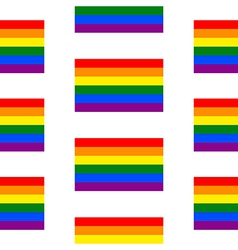 Gay flag seamless pattern vector image