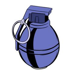 Grenade icon cartoon vector