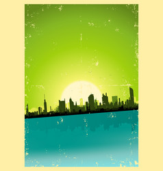 Grunge city landscape vector