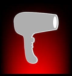 hair dryer style vector image