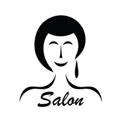 hair salon advertisement - black silhouette woman vector image