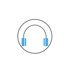 Headphone solid icon mobile sign and support vector