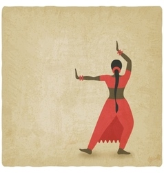 Indian dancer old background dance club symbol vector