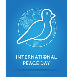 International Peace Day with Dove vector