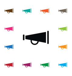 Isolated bullhorn icon alert element can vector