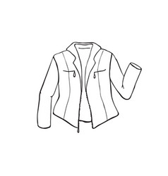 jacket outline symbol vector image