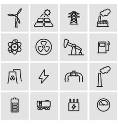 line energetics icon set vector image