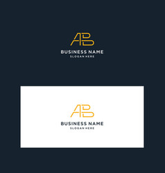 Logo design monogram vector