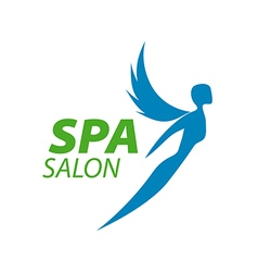 logo girl with wings for the spa vector image