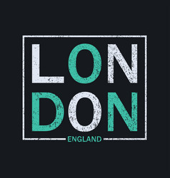 london t-shirt print vector image