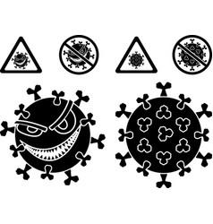 malignant coronavirus covid19 and signs vector image