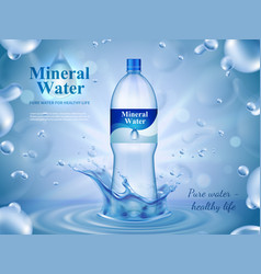 Mineral water advertising composition vector