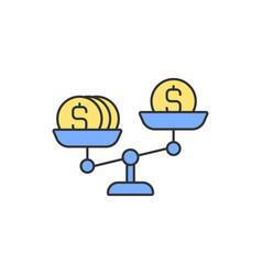 Money scales rgb color icon vector
