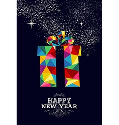 New year 2015 gift greeting card vector image