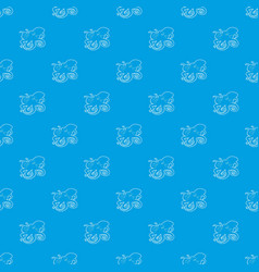 octopus pattern seamless blue vector image